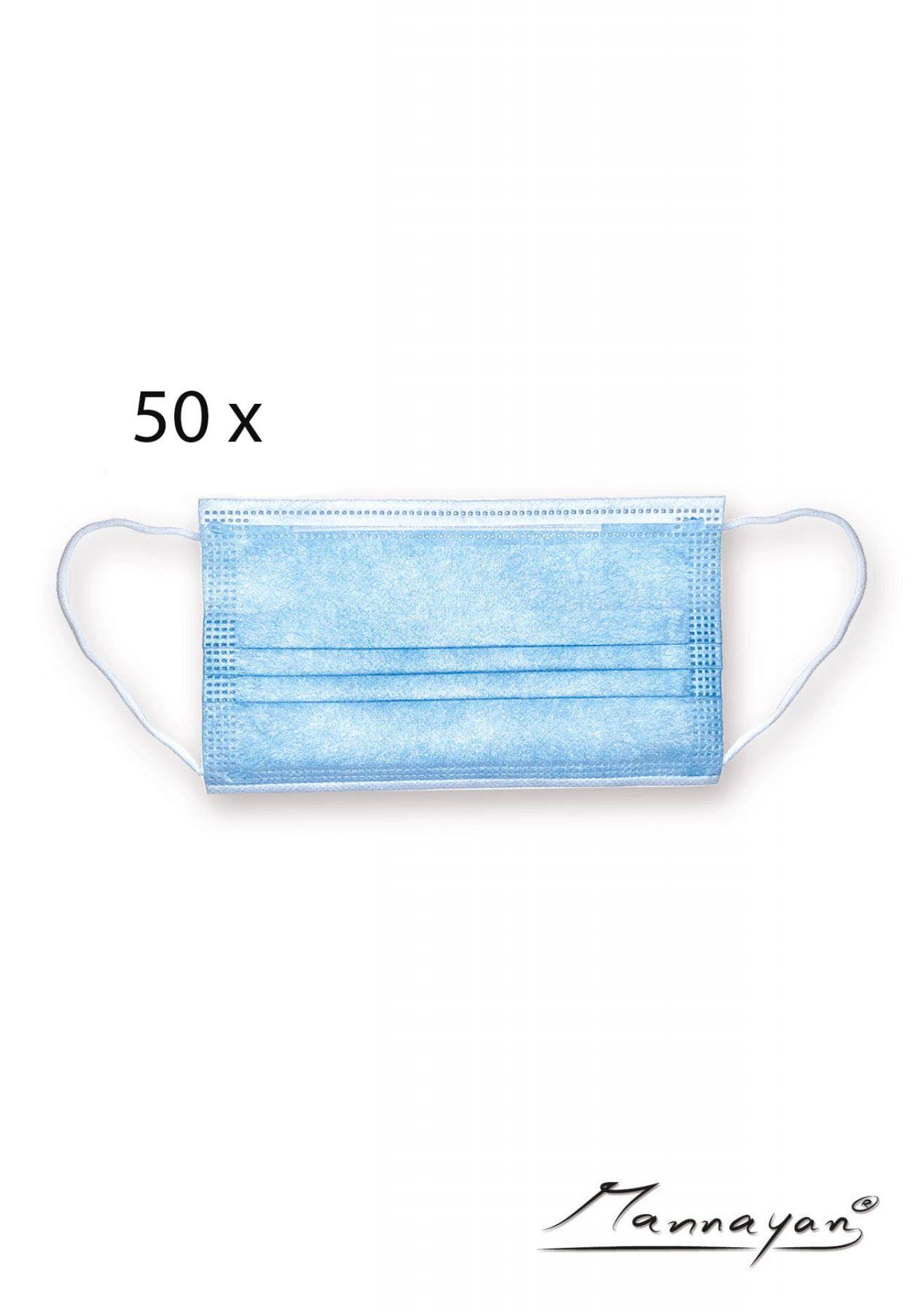 3-lagige Einwegmasken (50 Stück)