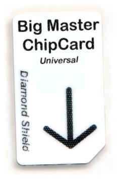 Big Master Chipcard Universal für Diamond Shield Zapper