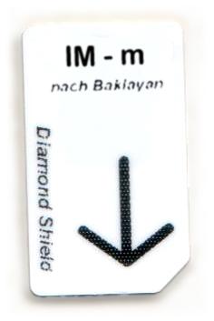 IM - m Chipcard nach Baklayan für Diamond Shield Zapper