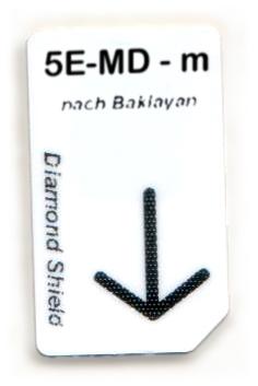 5 Elemente-Metall-Dämpfung Chipcard nach Baklayan