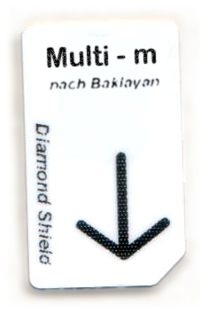 Multi - m Chipcard nach Baklayan für Diamond Shield Zapper