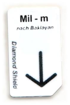 Mil - m Chipcard nach Baklayan für Diamond Shield Zapper