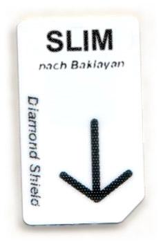 SLIM Chipcard nach Baklayan für Diamond Shield Zapper