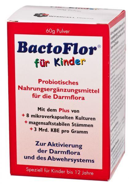BactoFlor für Kinder, Probiotisches Nahrungsergänzungsmittel  von Intercell