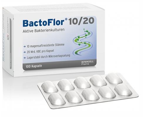 Bactoflor 10/20, Probiotisches Nahrungsergänzungsmittel von Intercell