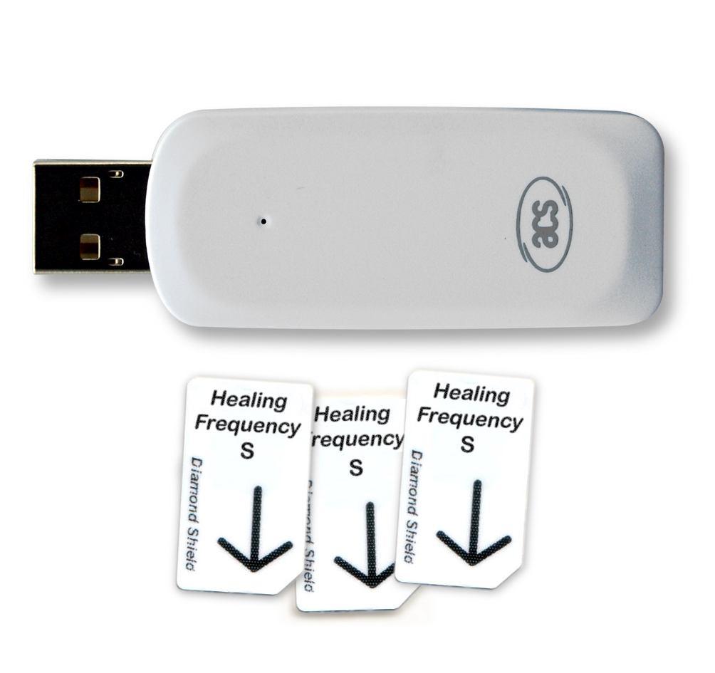 Healing Frequency Starter Set klein, mit 3 x Standard Chipkartenund 1x USB - Chipkartenschreiber
