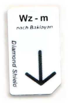 Wz - m Chipcard nach Baklayan für Diamond Shield Zapper