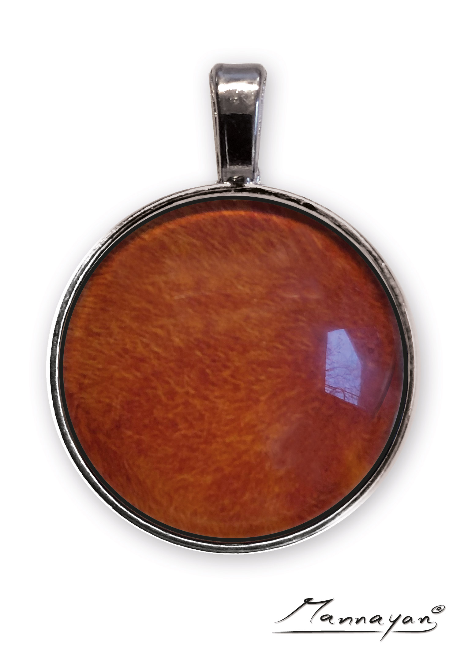 Mannayan E-Blocker Amulett Rot, Anti E-Smog
