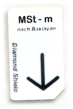 MSt - m Chipcard nach Baklayan für Diamond Shield Zapper