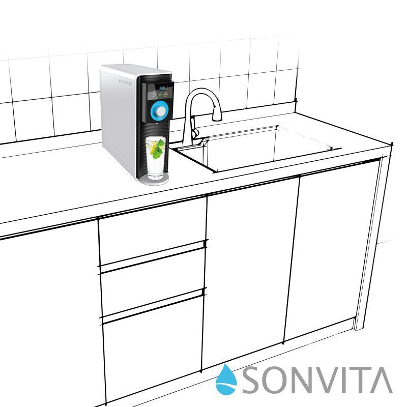 PURA UP, Umkehrosmose Wasserfilter, Auftisch Anlage