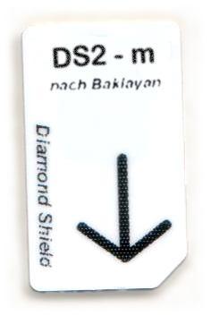 DS2 - m Chipcard nach Baklayam für Diamond Shield Zapper