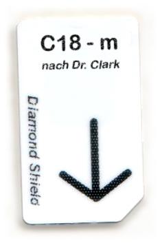 C18 - m Chipcard nach Dr- Clark für Diamond Shield Zapper