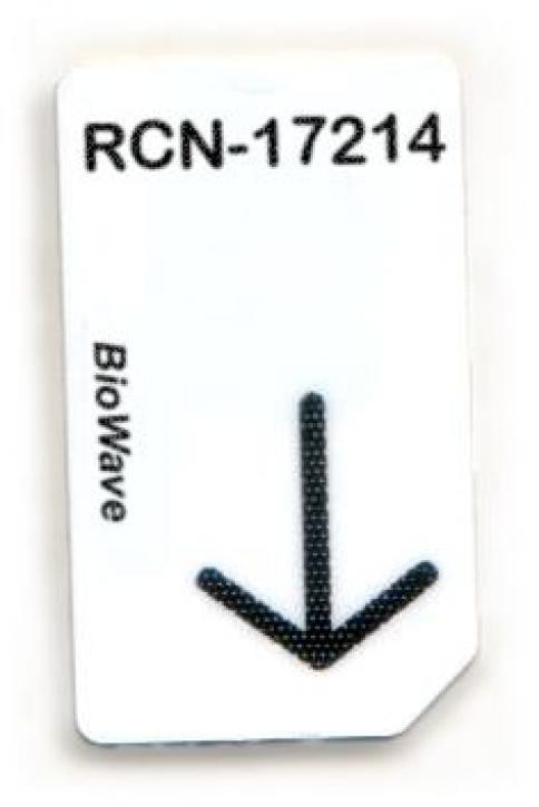RCN-17214-BW Chipcard für BIoWave Zapper