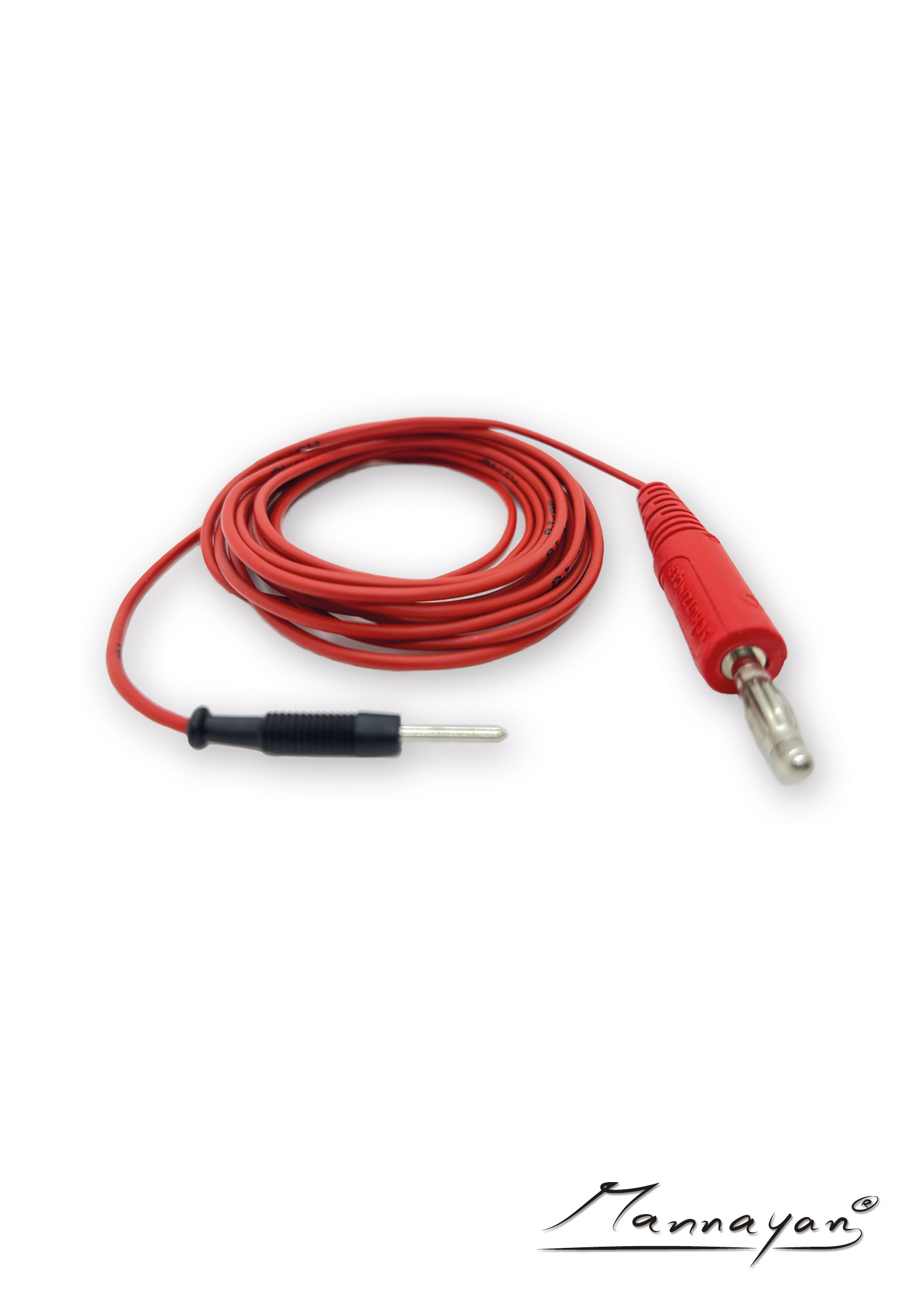 Kabel (2,5 m) mit Druckknopfadapter für Stoff-/ Flächenelektrode (rot)
