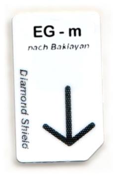 EG - m Chipcard nach Baklayan für Diamond Shield Zapper