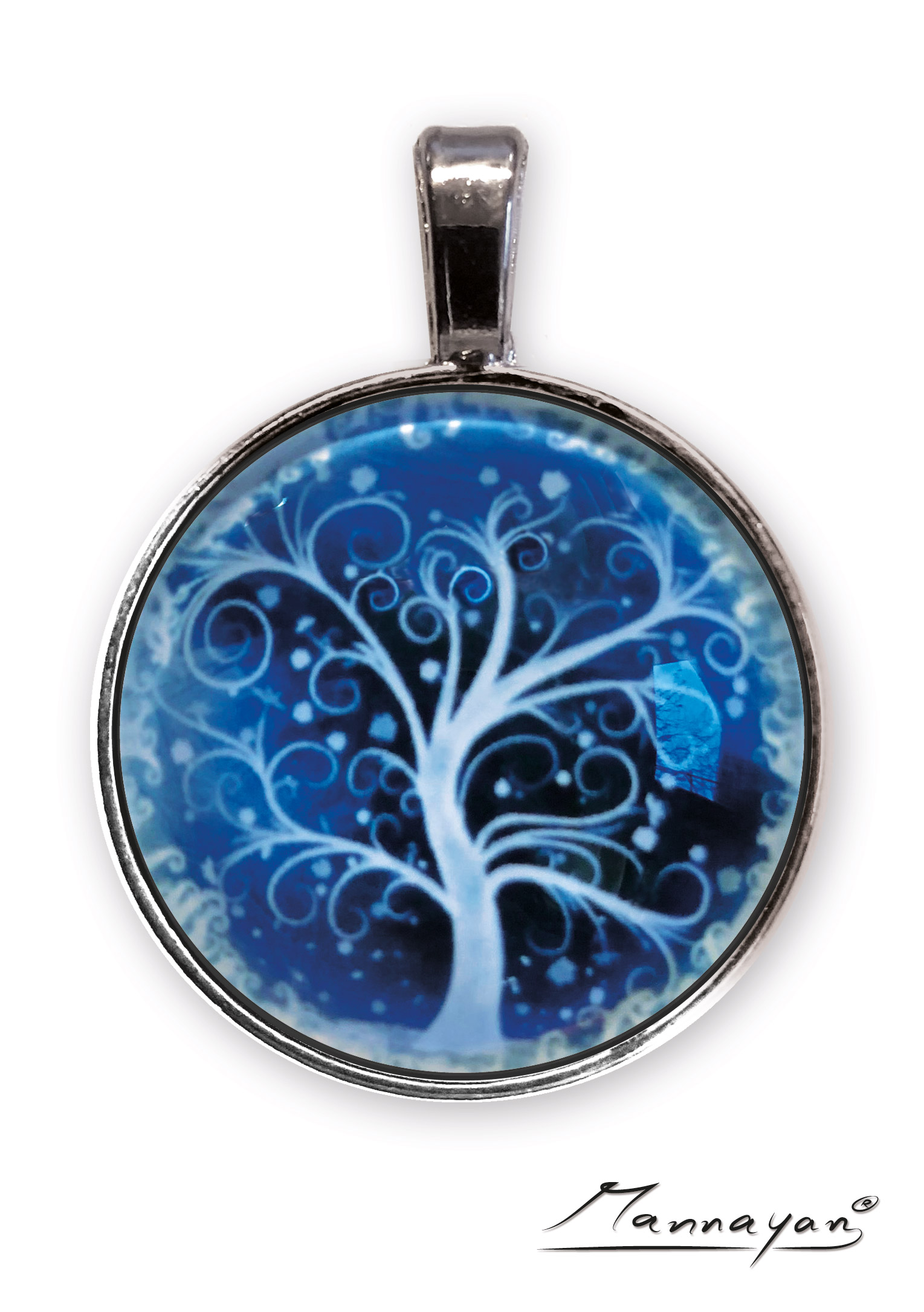 Mannayan E-Blocker Amulett Lebensbaum, Anti E-Smog