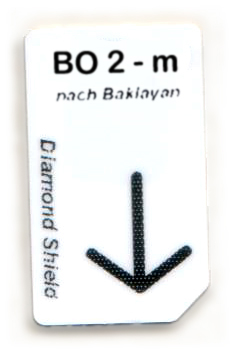 BO 2 - m Chipcard nach Baklayan für Diamond Shield Zapper