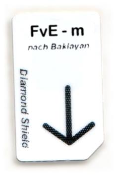FvE - m Chipcard nach Baklayan für Diamond Shield Zapper