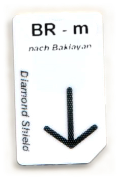 BR - m Chipcard nach Baklayan für Diamond Shield Zapper