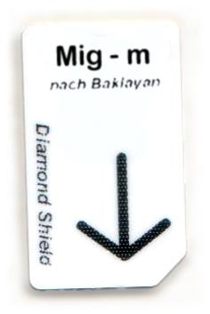 Mig - m Chipcard nach Baklayan für Diamond Shield Zapper