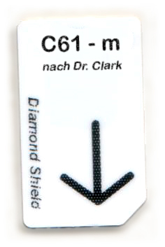 C61 - m Chipcard nach Dr. Clark für Diamond Shield Zapper