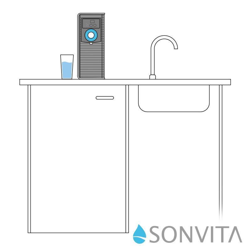 PURA UP, Umkehrosmose Wasserfilter, Auftischanlage