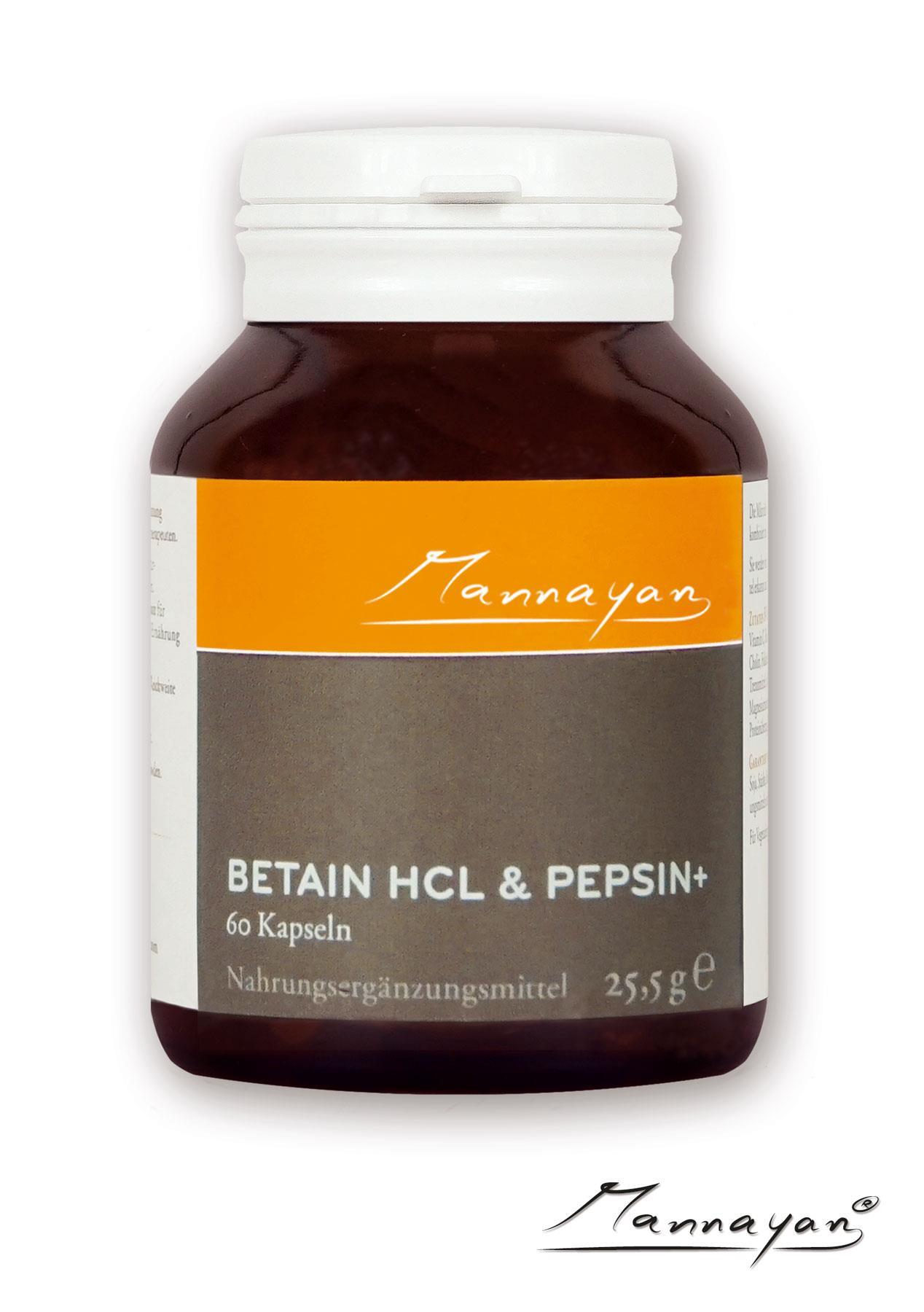 Betain HCL und Pepsin+ von Mannayan