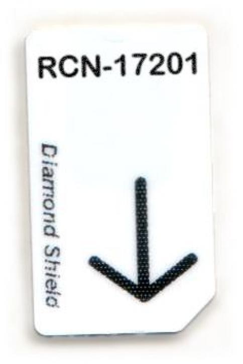 RCN-17201-DS Chipcard für Diamond Shield Zapper