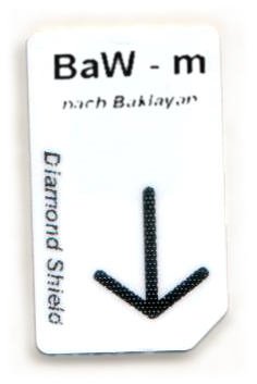 BaW - m Chipcard nach Baklayan für Diamond Shield Zapper