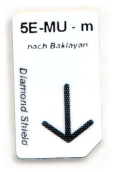 5 Elemente-Metall-Unterstützung Chipcard nach Baklayan